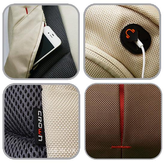 Купить аксессуар к ноутбуку и подарить хорошему человеку Рюкзак для ноутбука CROWN BPG-4415b  (FrenchStyle Series) 4415b Black 15,6