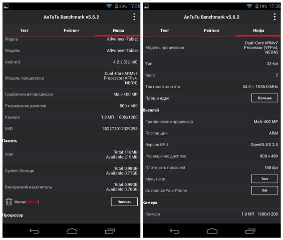 Тестирование детского планшета с процессором Alwinner A23