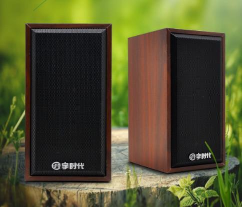 Колонки 2.0 UPS-207 Wood Black