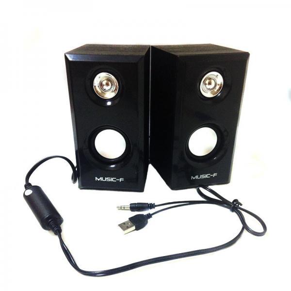 Колонки 2.0 UPS-292 Wood Black