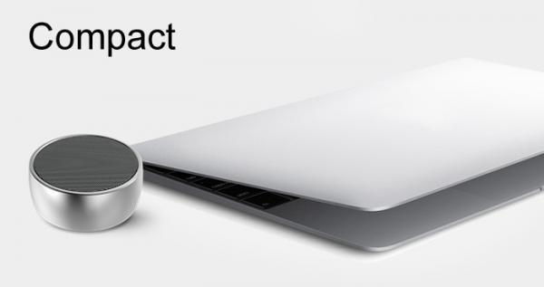 Компактная колонка UBS-01 BS01 портативная, с автономным питанием и съёмным аккумулятором. Удобна для подключения планшета, ноутбука, мобильного телефона, MP4-плеера и пр.