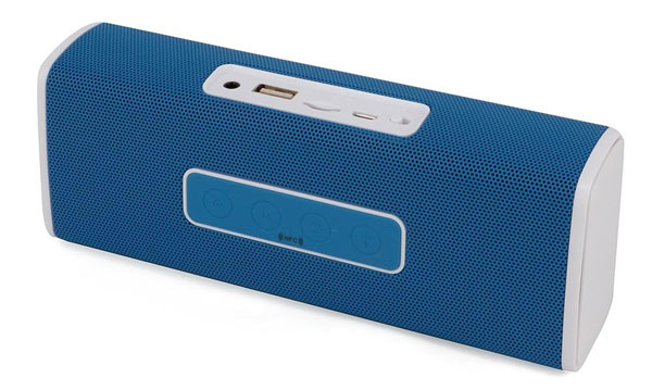 Компактная Стерео-колонка портативная UBS-201 NFC, с автономным питанием и съёмным аккумулятором. Удобна для подключения планшета, ноутбука, мобильного телефона, MP4-плеера и пр.