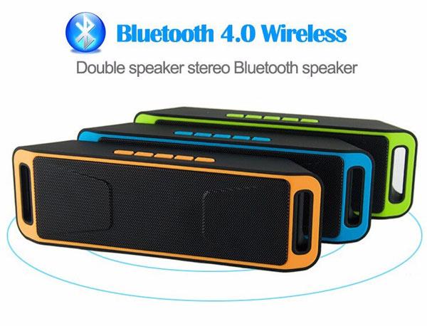 Компактная Стерео-колонка портативная UBS-208, с автономным питанием и съёмным аккумулятором. Удобна для подключения планшета, ноутбука, мобильного телефона, MP4-плеера и пр.