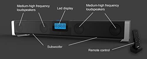 Компактная Стерео-колонка портативная Bluetooth-колонка Indena G-809 TV Home Theatre Soundbar + Subwoofers. Удобна для подключения планшета, ноутбука, мобильного телефона, MP4-плеера и пр.